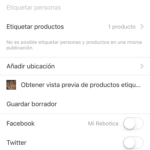 Instagram shopping paso a paso